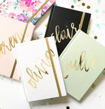 Personalized Journal - Gold Script Name