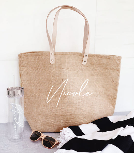 Personalized Burlap Bags Customized Burlap Bridesmaid Bag Beach Tote Bags Personalized Bridesmaid Tote Bag Beach Bridesmaid Gift
