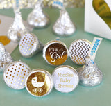 Personalized Birthday Metallic Foil Hershey's® Kisses Labels Trio (set of 108) - Birthday