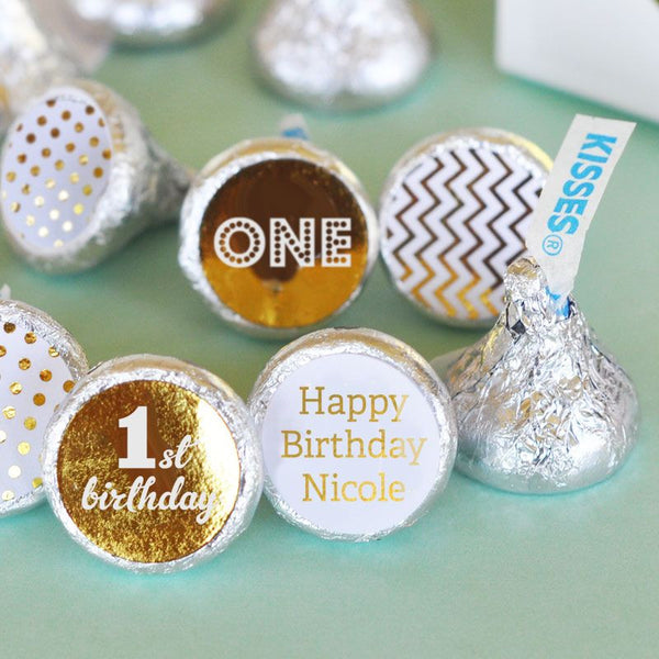 Minnie Birthday Hershey's® Kisses Labels Trio (set of 108) - Birthday
