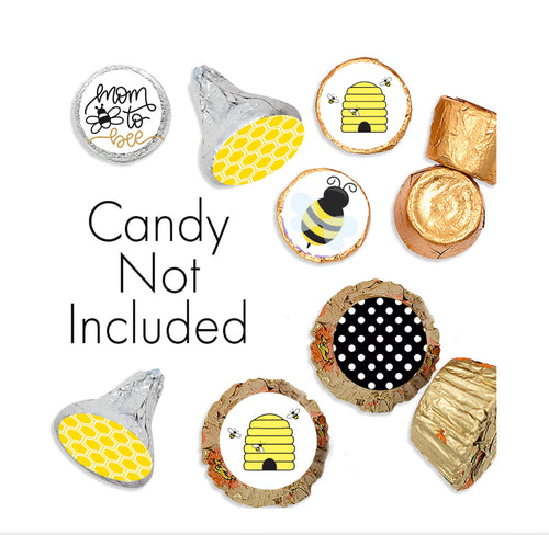 Mom To Bee Candy Stickers for Hershey Kisses