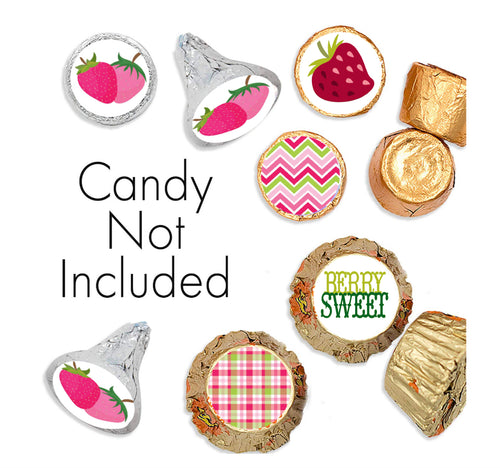 Strawberry Theme Candy Stickers for Hershey Kisses
