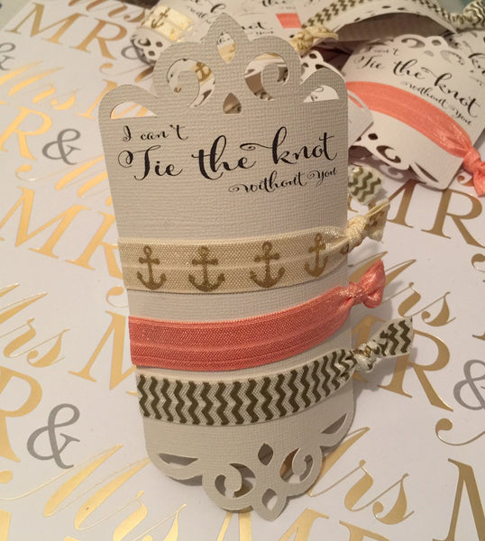 """I can't tie the knot without you"" Hair Tie (set of 6)"