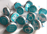 Personalize Bridal Party Favors - Stickers for Hershey Kisses - (set of 324) -Free Shipping Use Code SHIPFREE