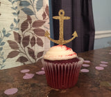 Starfish, Anchor, Mermaid Tail, and Seahorse Cupcake Toppers. Under The Sea. 12CT.