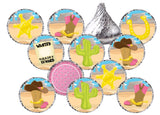 Cowgirl or Boy Theme Stickers - Hershey's® Kisses Stickers - Printed/Shipped (set of 216) Free Shipping Use Code SHIPFREE