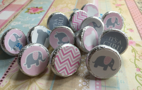 Little Peanut Baby Shower Party Favors - Pink Girl - Stickers for Hershey Kisses - (set of 324) -Free Shipping Use Code SHIPFREE
