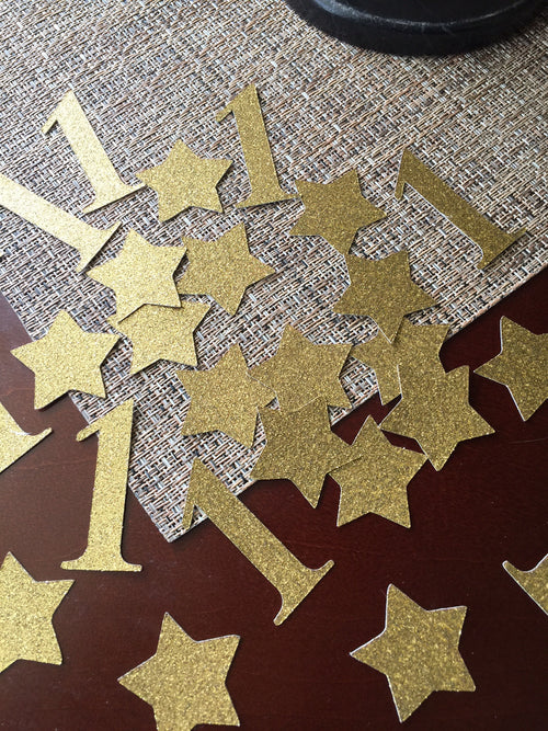 "Ready to Ship. First Birthday ""One""  Confetti Table Decoration (50ct each)"