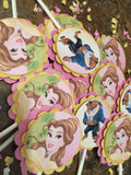 Beauty and the Beast Inspired Cupcake Toppers 12CT.