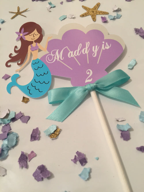 Personalize Mermaid Cake Topper
