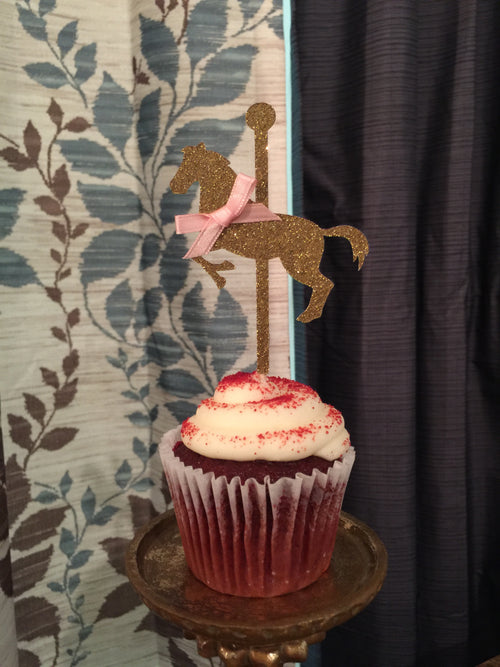Carousel Horse Cupcake Toppers. Merry-Go-Round Horse Cupcake Toppers 12CT.