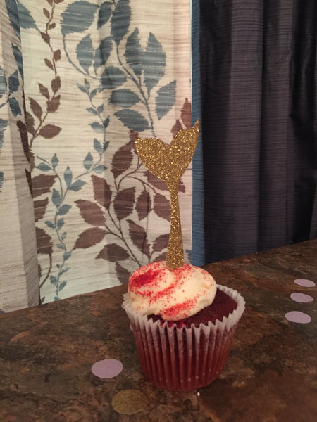 Mermaid Tail Cupcake Toppers. Under The Sea. 12CT.