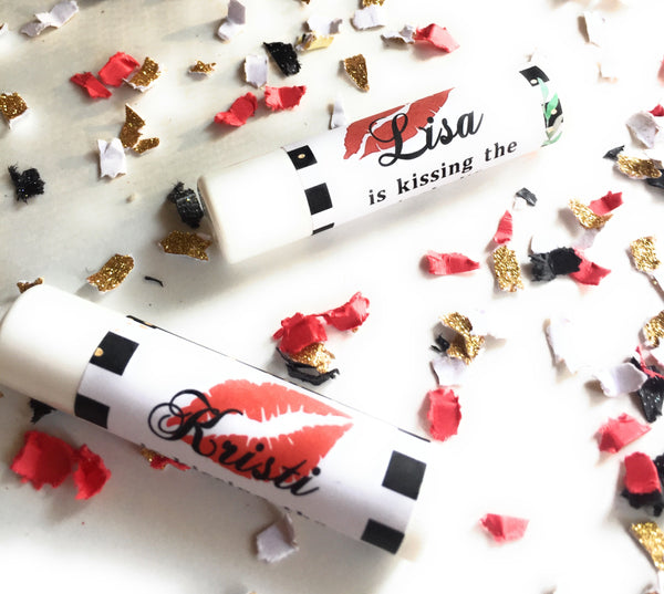 "12 Personalize Lip Balm Favors - ""kissing the single life goodbye"" Bachelorette Favor Lip Balms - Lip Balm Favors (Lip Balm Included) -Free Shipping Use Code SHIPFREE"
