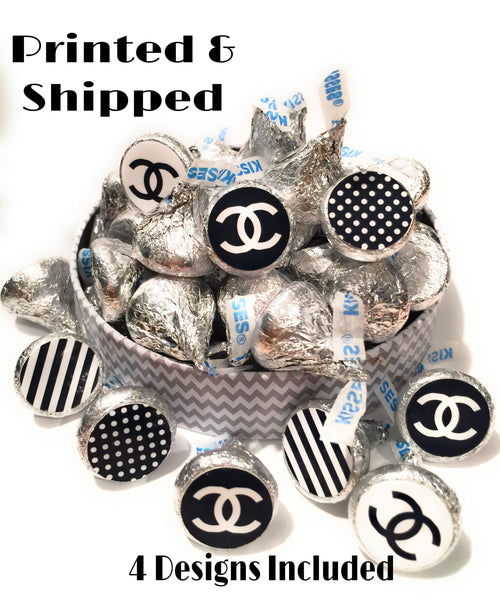 Chic Candy Stickers - Stickers for Hershey Kisses - (set of 216) -Free Shipping Use Code SHIPFREE