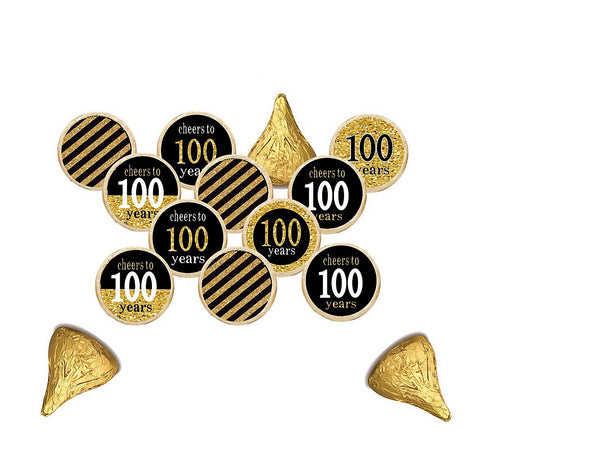 "60TH Happy Birthday ""CHEERS"" Hershey Kisses Stickers  - Hershey's Candy Stickers - Printed & Shipped"