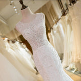 New Arrival Lace Crystal Mermaid Wedding Dresses