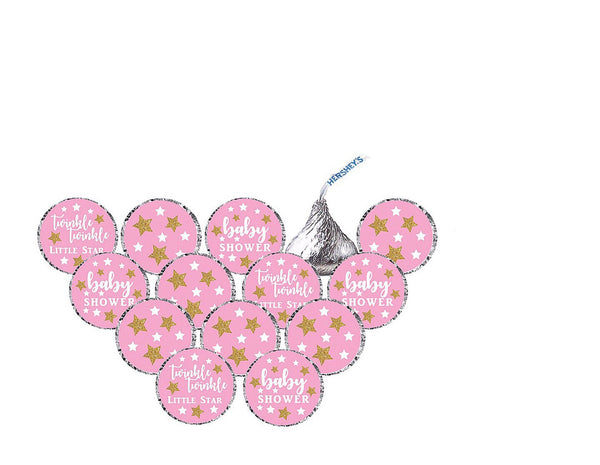 Twinkle Twinkle Little Star Hershey's Kisses Stickers - Birthday or Baby Shower- Printed & Shipped -210 Stickers
