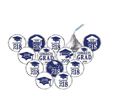 Hershey's Kisses 2018 Graduation Stickers - 210 Stickers - Free Shipping Use Code SHIPFREE