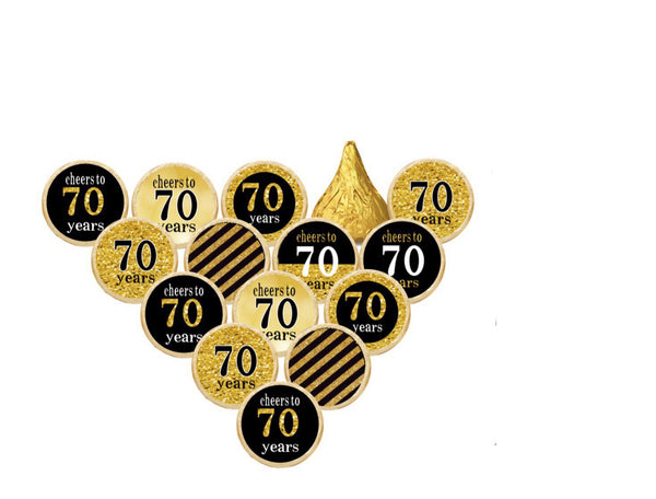 50th Birthday Happy Birthday Hershey Kisses Stickers  - Hershey's Candy Stickers - Printed & Shipped - FREE SHIPPING - USE CODE SHIPFREE