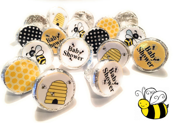 Bumble Bee Baby Shower Stickers. Mom to Bee Baby Shower. (Set of 324) Stickers. Free Shipping Use Code SHIPFREE.