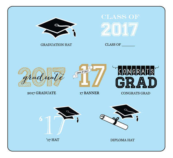 "Personalized Graduation 2"" Square Favor Labels & Tags"