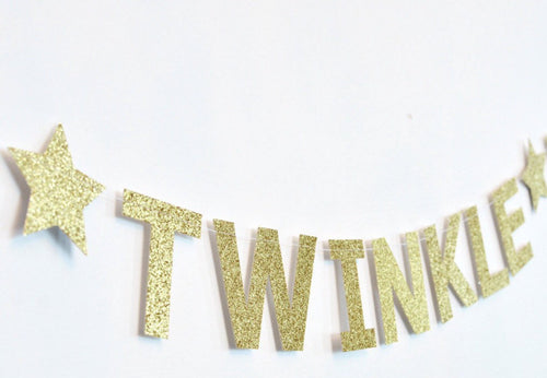 Free Shipping.... New..Twinkle Twinkle Little Star Birthday Banner, First Birthday Decoration, Party Supplies (CODE SHIPFREE)