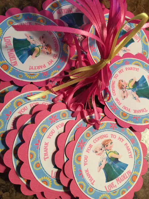 Free Shipping....Frozen Fever Inspired Favor Tags (CODE SHIPFREE)