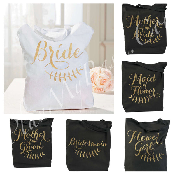 New...Bridal, Bridesmaid, Maid of Honor, Flowergirl, Mother of the Bride/Groom Tote Bag