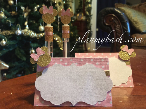 Minnie Mouse Pink Gold Favor Bags & Favor Tags