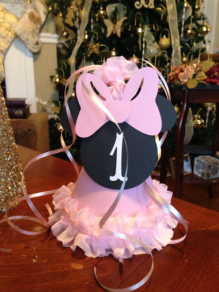 Free Shipping....Chic Minnie Mouse Pink White, Party Supplies (USE CODE SHIPFREE)