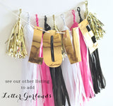 Hot Pink and Black Bachelorette Birthday Decor Garland