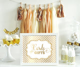 Peach and Rose Gold Wedding Party Tassel Garland
