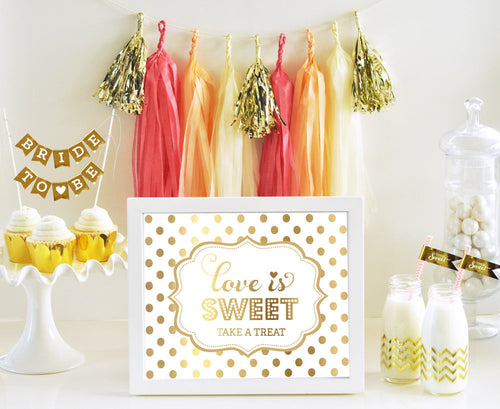 Coral, Peach and Gold Tassel Garland