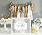 Rose, Sand Gold Wedding Party Tassel Garland