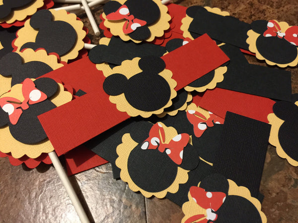 Disney Inspired Clubhouse Cupcake Toppers