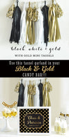 Black and Gold Decor - Black and Gold Garland