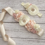 Vintage Inspired Maternity/Flower/Bridal Sash Belt