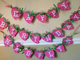 Free Shipping....Strawberry Shortcake Birthday Banner, Party Supplies (USE CODE SHIPFREE)