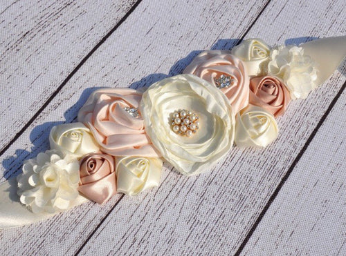 Free Shipping....Vintage Inspired Maternity/Flower/Bridal Sash Belt (USE CODE SHIPFREE)