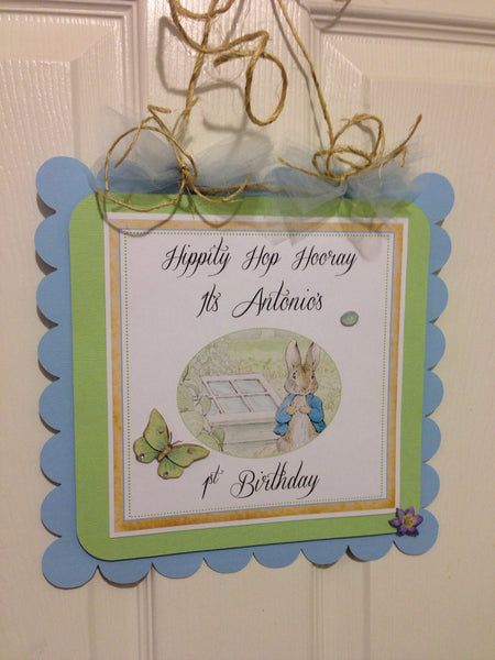 Peter Rabbit Inspired Personalize Door Sign