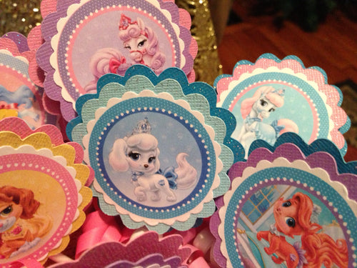 Palace Pets Inspired Birthday Cupcake Toppers