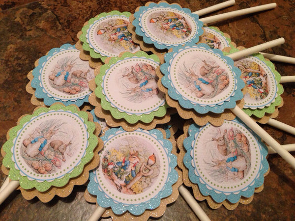 Peter Rabbit Inspired  Cupcake Toppers