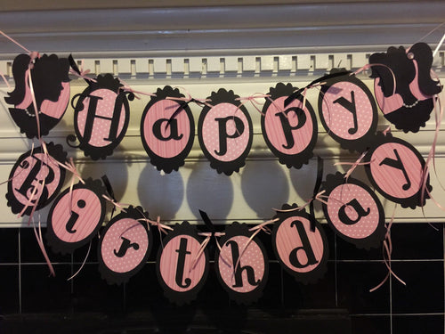 Barbie Pink Black Happy Birthday Package