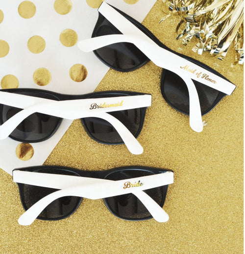 White Gold Wedding Sunglasses