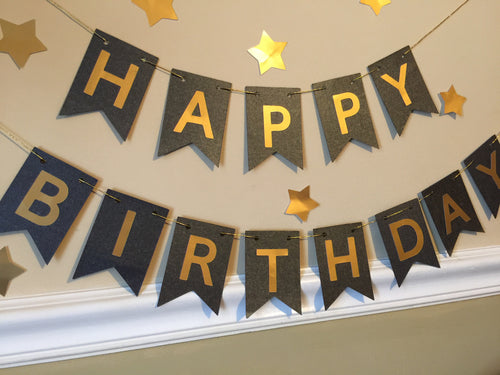 Free Shipping! Pink/Gold Birthday Banner (USE CODE SHIPFREE)