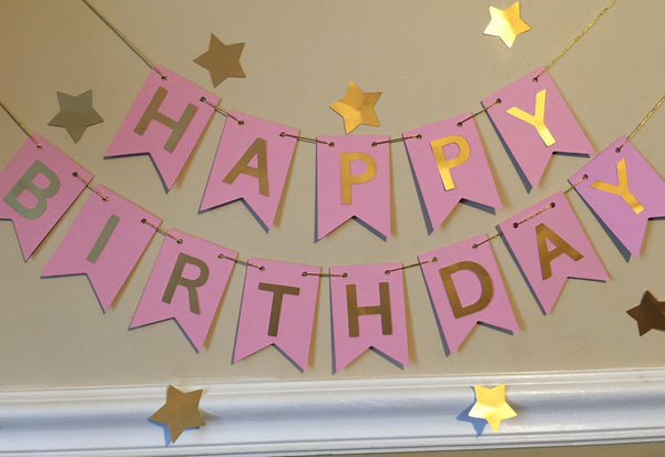 Free Shipping! Black/Gold Birthday Banner (USE CODE SHIPFREE)