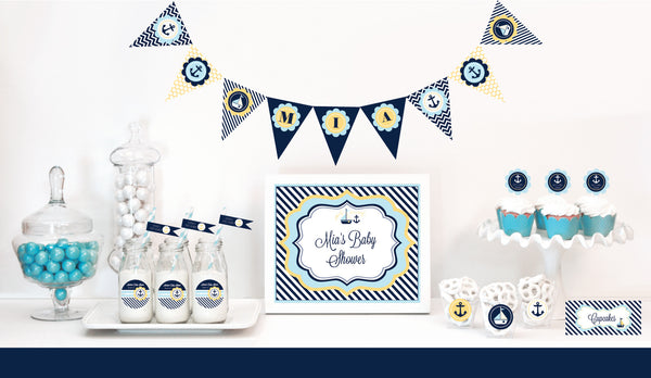 Nautical Baby Shower Decorations Starter Package