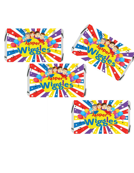 PERSONALIZE Inspired Wiggles Hershey's MINIATURE Stickers - Candy Stickers - Peel & Stick Stickers