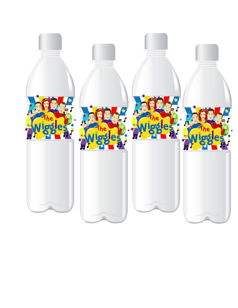Inspired WiggleS WATER BOTTLE LABELS | Adhesive Stickers | 12 Labels | Printed & Shipped