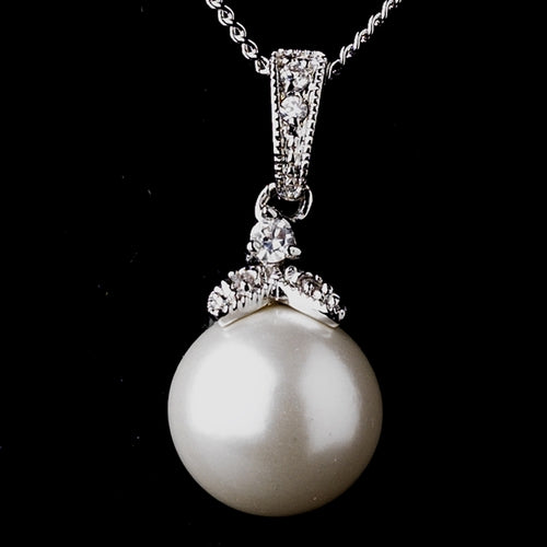 Pearl & CZ Jewelry Set Bridal Jewelry Set